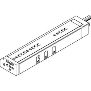 Mini-Schlitten Kugel-Käfig-Führung Baugr. 16 mm / Hub 150 mm P-Dämpf.