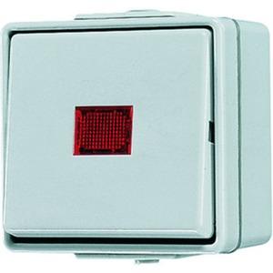 Wipp-Kontrollschalter 10 AX 250 V ~ rotes Lichtaustritt Aus-Wechsel