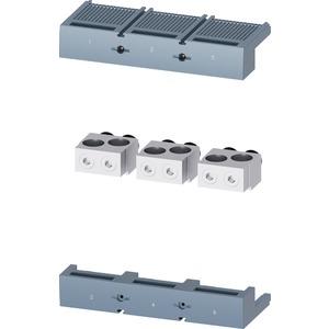 Rundleiteranschlussklemme 2 Kabel 3 Stück - Zubehör für 3VA15/25 1000