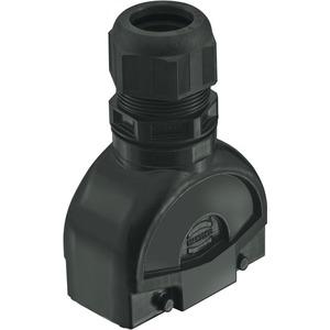 Tüllengehäuse mit integrierter Kabelverschraubung 16 B Han-Eco M40 1x
