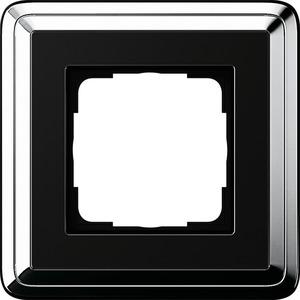 Abdeckrahmen 1f ClassiX Chrom-Schwarz