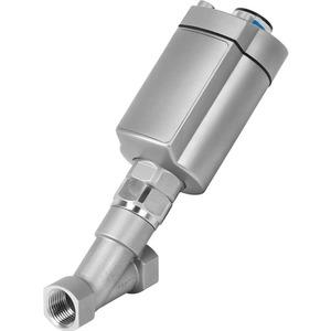Schrägsitzventil mit Kolbenantrieb für Leitungseinbau Gewindemuffe NPT1 1/2