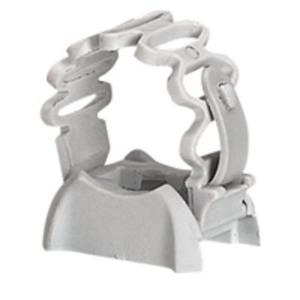 Rohrschelle grau für Ø 20 bis 25 mm