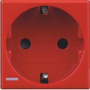 Steckdose mit Steckklemmen (SL) Kinderschutz 16A/250V 2-modulig rot