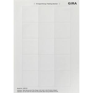 Beschriftungsbögen im DIN A4-Format 51 x 51mm reinweiß