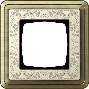 1-fach Abdeckrahmen für ClassiX Art Bronze cremeweiß