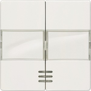 Doppel-Wippe I-System titanweiß mit Fenster und Schild für Seriensch.