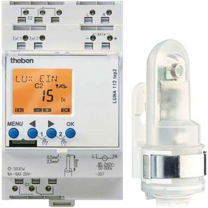 Digitaler Dämmerungsschalter LUNA 112 top2 ohne Uhr DIN-Schiene