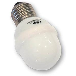 Golf Ball E27  rote LED matte PVC Kappe weißer Sockel 220-240V 1W