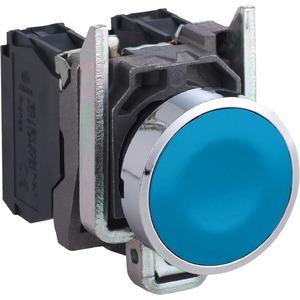 Drucktaster flach blau 1S tastend