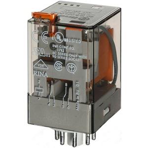 Industrierelais steckbar 2W 10A 12VDC Prüftaste + Anzeige Serie 60