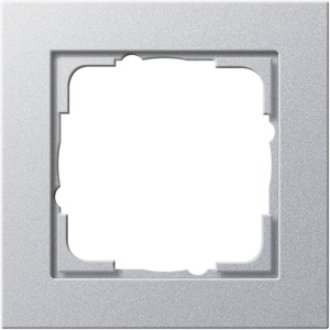 1-fach Abdeckrahmen für E2 Aluminium
