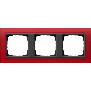 3-fach Abdeckrahmen für anthrazit Event Opak rot