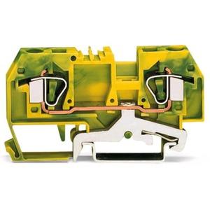 2-Leiter-Schutzleiterklemme 0,2 - 6 mm² grün-gelb
