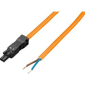 SZ Anschlussleitung für Einspeisung 2-polig 100-240 V L: 3000 mm orange