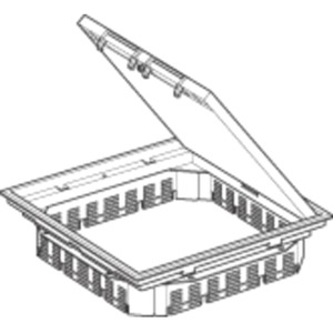 Deckelsatz Quadratisch RAL 7011