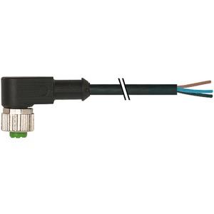 M12 Buchse  90° freies Leitungsende
