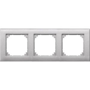 Abdeckrahmen 3-fach aluminium matt