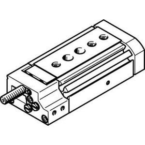 Mini-Schlitten Kugel-Käfig-Führung Baugr. 8 mm / Hub 10 mm P-Dämpf.