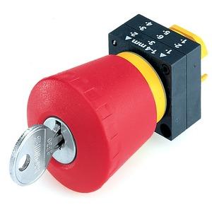 Betätigungsselement rund Not-Halt-Pilzdrucktaster 40mm mit Schloss RON