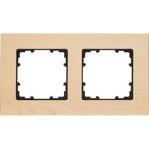 2-fach Holz Rahmen DELTA miro Holzart ahorn 161x90mm