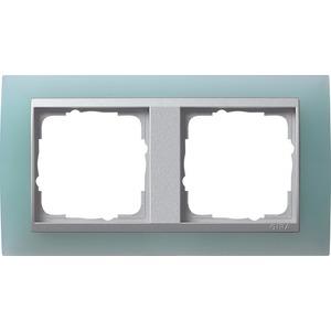 2-fach Abdeckrahmen für Aluminium Event Opak mint