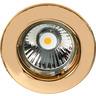 Einbaustrahler mit Sprengring feststehend C 1830 gold 24 Karat vergoldet