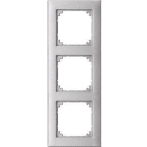 Abdeckrahmen 3-fach bündiger Einbau aluminium matt