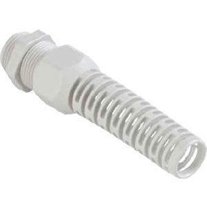 Kabelverschraubung PG11 Kunststoff PA 6 hellgrau Knickschutz SYNTEC