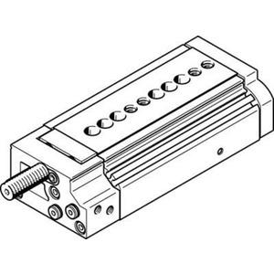 Mini-Schlitten Kugel-Käfig-Führung Baugr. 16 mm / Hub 50 mm P-Dämpf.