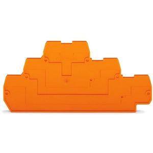 Abschluss- und Zwischenplatte 2 mm dick orange