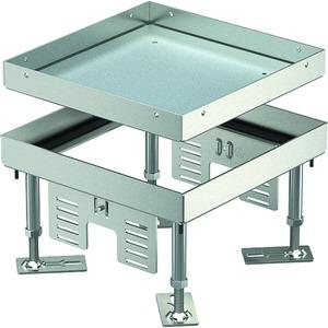 Quadratische Kassette blind 200x200mm V2A