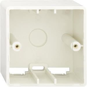 Aufputz Gehäuse 1-fach (ähnlich RAL 9010) 81x81x46 mm reinweiß