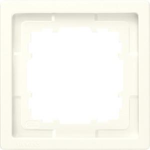1-fach Rahmen DELTA style titanweiß 82x82mm