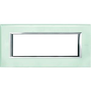 Rahmen rechteckig 6 Module Kompaktinstallation Glas Kristallglas