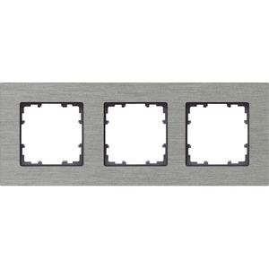 3-fach Rahmen DELTA miro ALU NATUR 232x90mm