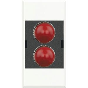 Glasfasersteckdose für ST Fiberoptik-Stecker duplex 1-modulig