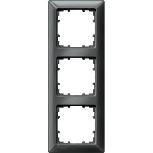 3-fach Rahmen DELTA line carbon-metallic 222x80mm