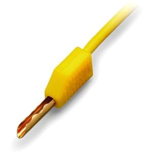 Prüfstecker gelb Ø 2,3 mm mit 500mm-Leitung