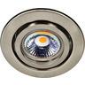 Einbaustrahler mit Sprengring schwenkbar C 3840 nickel-gebürstet