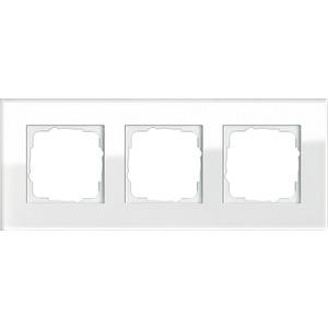 3-fach Abdeckrahmen für Esprit Glas weiß