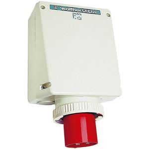 Wandgerätestecker 125A 4P 400V 6h IP67