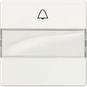 Wippe I-System titanweiß mit Symbol Glocke und Beschriftungsfeld