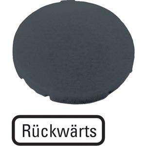 Tastenplatte flach schwarz RÜCKWÄRTS