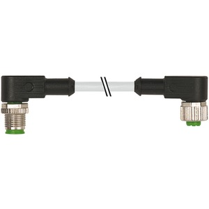 M12 Stecker / M12 Buchse gewinkelt PUR-JB 5x0,34 grau 0,6m