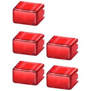 Kappen-Set für Taster 5TE48 2 Artikelnummer=5 Stück rot/transparent