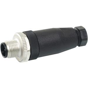 M12 Stecker gerade selbstanschl. Schraubklemme 4-polig max. 0,75mm²