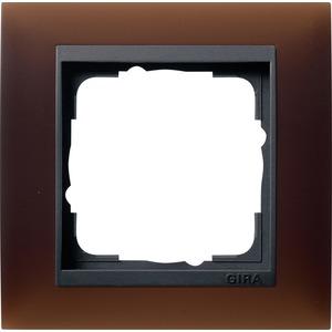 1-fach Abdeckrahmen für anthrazit Event Opak Dunkelbraun