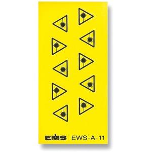 Warnung vor Laserstrahlung Kennzeichnungsetikett VPE 10