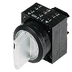 Beleuchteter Knebelschalter 22mm rund Kunststoff klar Knebel kurz O-I